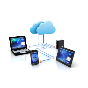 Electronic devices all leading to cloud