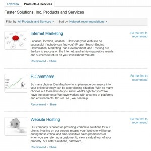 Faster Solutions' Products and Services