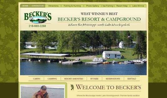 Beckers resort homepage