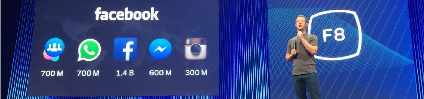 Mark Zuckerberg talks at the 2016 F8