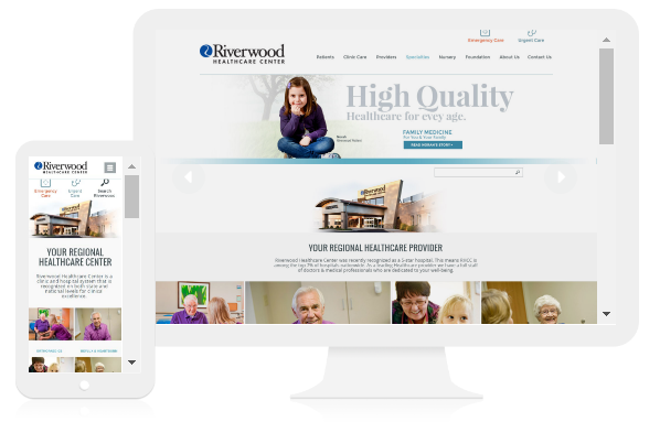 example of responsive healthcare website