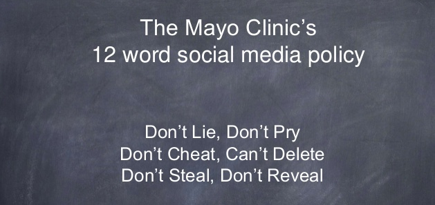 mayo clinic healthcare policy