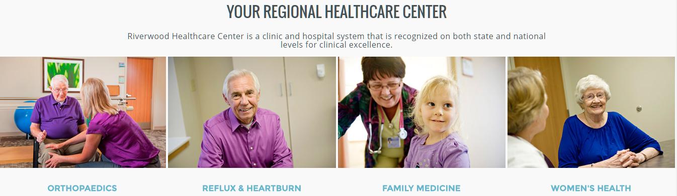 Riverwood healthcare homepage image