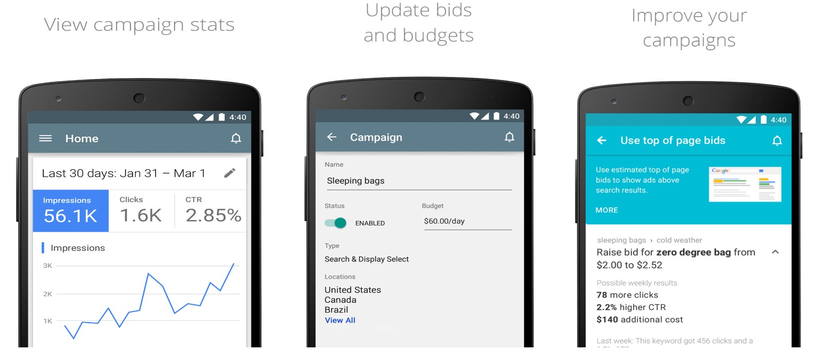 adwords mobile app