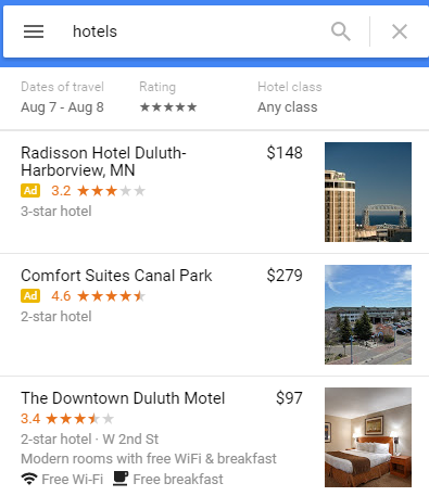 google map ad example