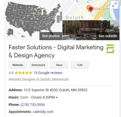 Faster Solutions Google My Business